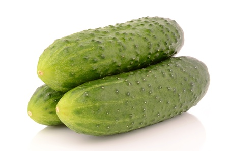 Cucumbers on a white background Stock Photo