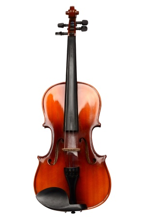 Violin on a white background photo