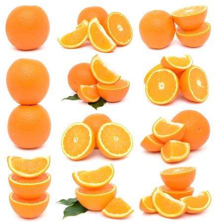 Oranges on white background photo