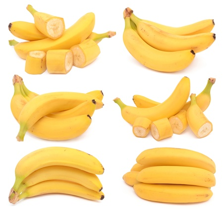Bananas on a white background Stock Photo