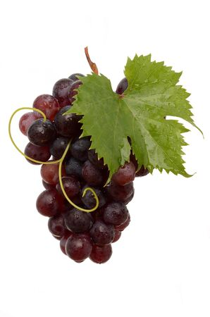 Juicy Grapes on white background Stock Photo - 16241152