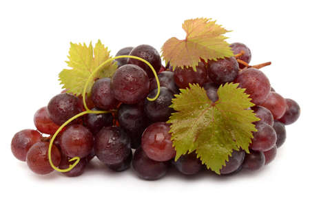 tip of the leaf: Juicy Grapes  Stock Photo