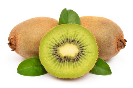 Kiwi fruit on a white background photo