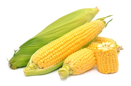 Corn on a white background photo