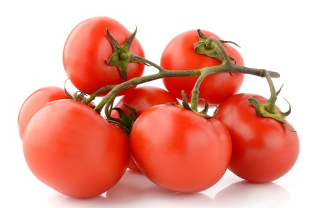 Tomatoes on a white background photo