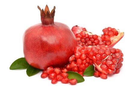 Juicy pomegranate on white background Stock Photo