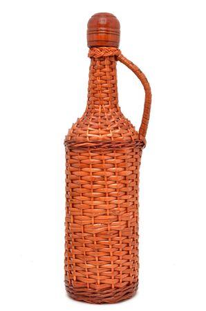 Wicker bottle of wine Stock Photo - 17214683