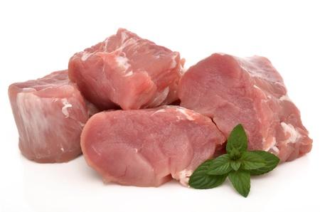 Vers vlees op een witte achtergrond Stockfoto