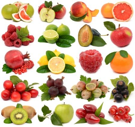 Fruit op een witte achtergrond Stockfoto