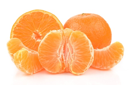 Tangerine on a white background Stock Photo