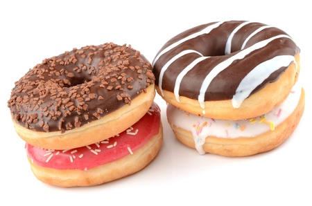Donuts on a white background photo