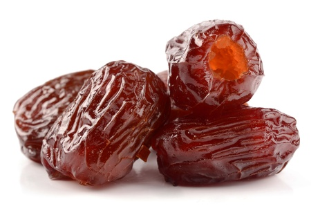 dates fruit: Dates on a white background Stock Photo