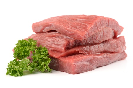 Veal on a white background Stock Photo