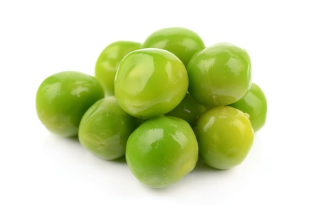 Green peas on a white background Stock Photo - 17680843