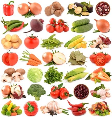 Groenten op een witte achtergrond