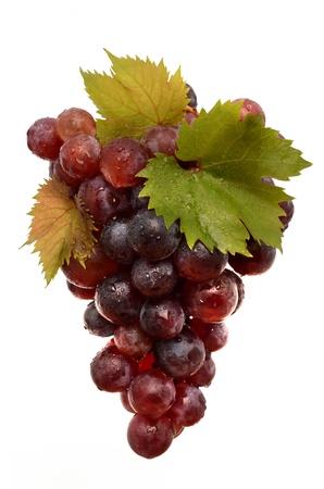 Sappige druiven op een witte achtergrond