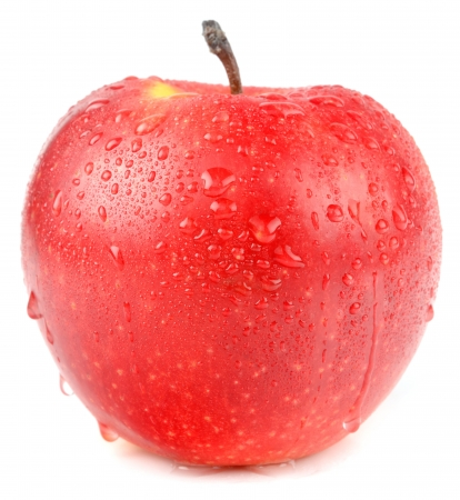 apple on a white background