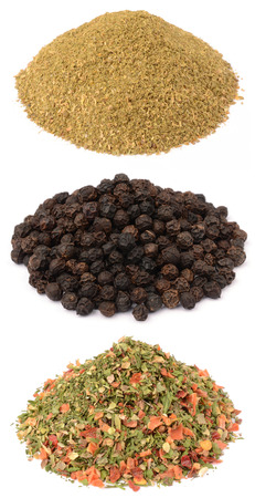 Spices on a white background 스톡 사진