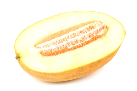 meloen op een witte achtergrond Stockfoto