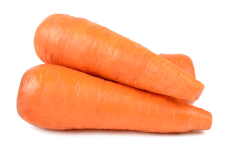 carrots on a white background Stock Photo