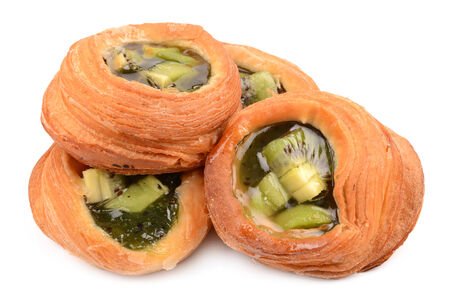 puff pastry: puff pastry stuffed with kiwi