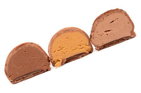 chocolade snoepjes Stockfoto