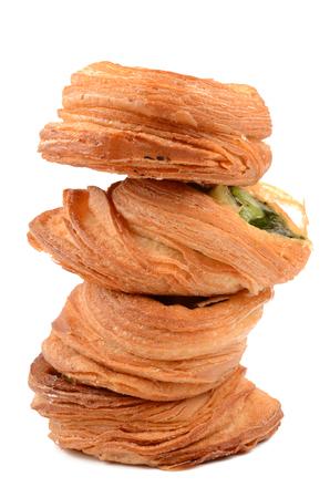 danish puff pastry: puff pastry stuffed with kiwi