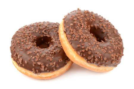 Donuts on a white background Stock Photo