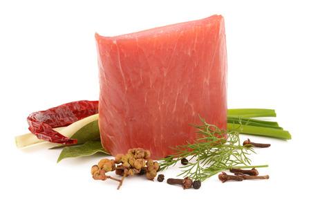 Ham en kruiden Stockfoto