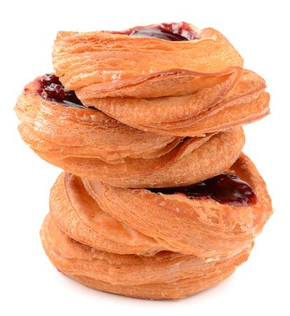 danish puff pastry: puff pastry stuffed with strawberries