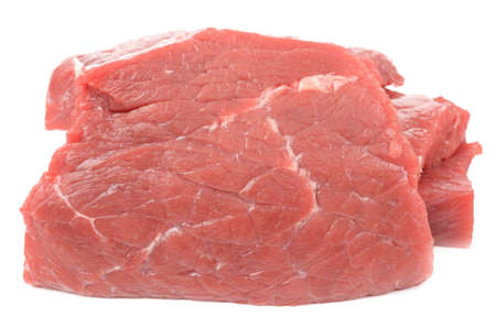 beef steak: Veal on a white background Stock Photo