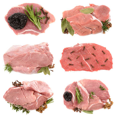 prunes: fresh meat with prunes Stock Photo