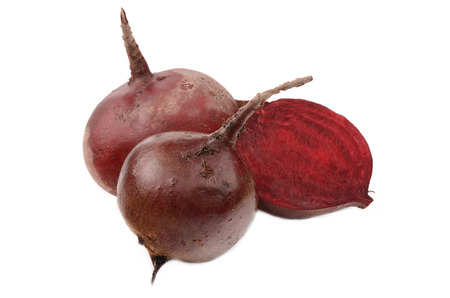 Fresh beets on isolated background