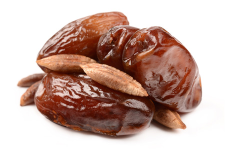 Dates on a white background Stock Photo