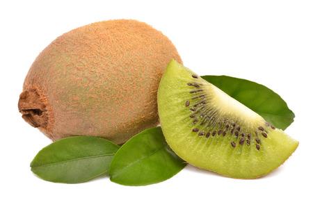 Kiwi fruit on a white background