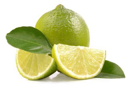 fresh ripe lime 스톡 사진