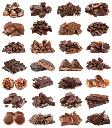 endorphines: Chocolate on white background