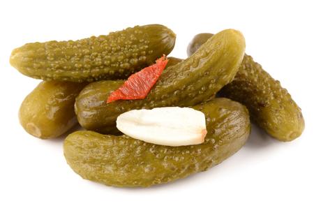 marinated: Marinated cucumbers Stock Photo