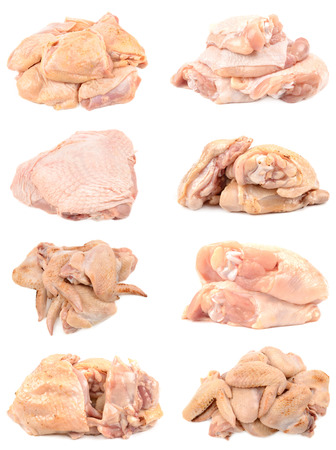 raw: fresh chicken and turkey