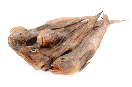 goby: Dried bullhead on a white background