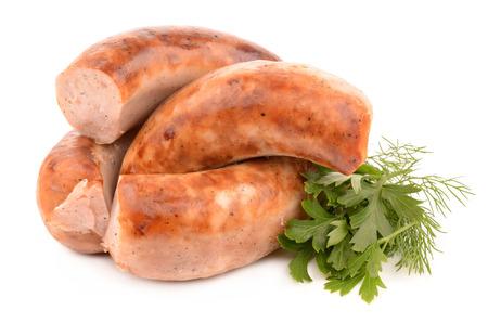 homemade sausages Stockfoto