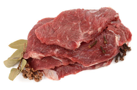 circular muscle: beef on a white background Stock Photo