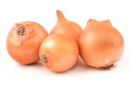 onion: Cebollas en un fondo blanco Foto de archivo