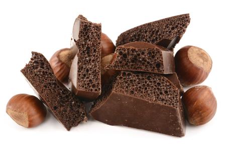 porous: porous chocolate with hazelnuts