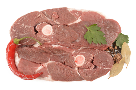 mutton on a white background Stock Photo
