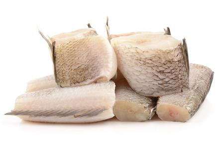fresh and tasty notothenia isolated on white background Stock Photo