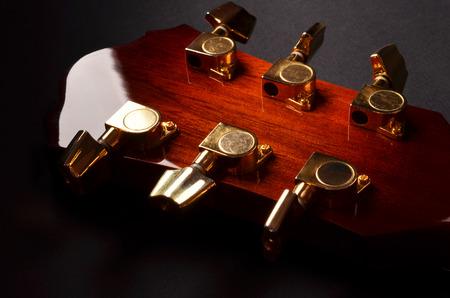 solo form: elements of acoustic guitar closeup Stock Photo