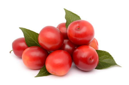 fresh cherries isolated on a white background Stock Photo