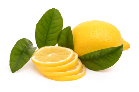 hearty and healthy lemon isolated on white background Stock Photo