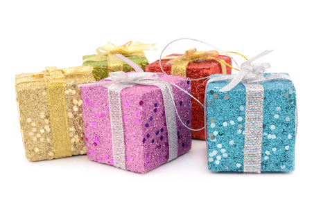 colorful gifts isolated on a white background